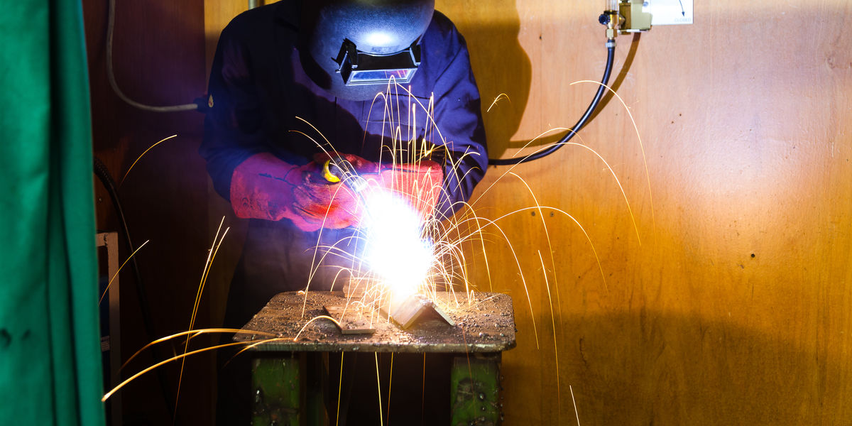Fabrication Student Welding