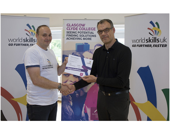 Stuart Thomson First Place IT Support Technician Winner At Wordskills Competition