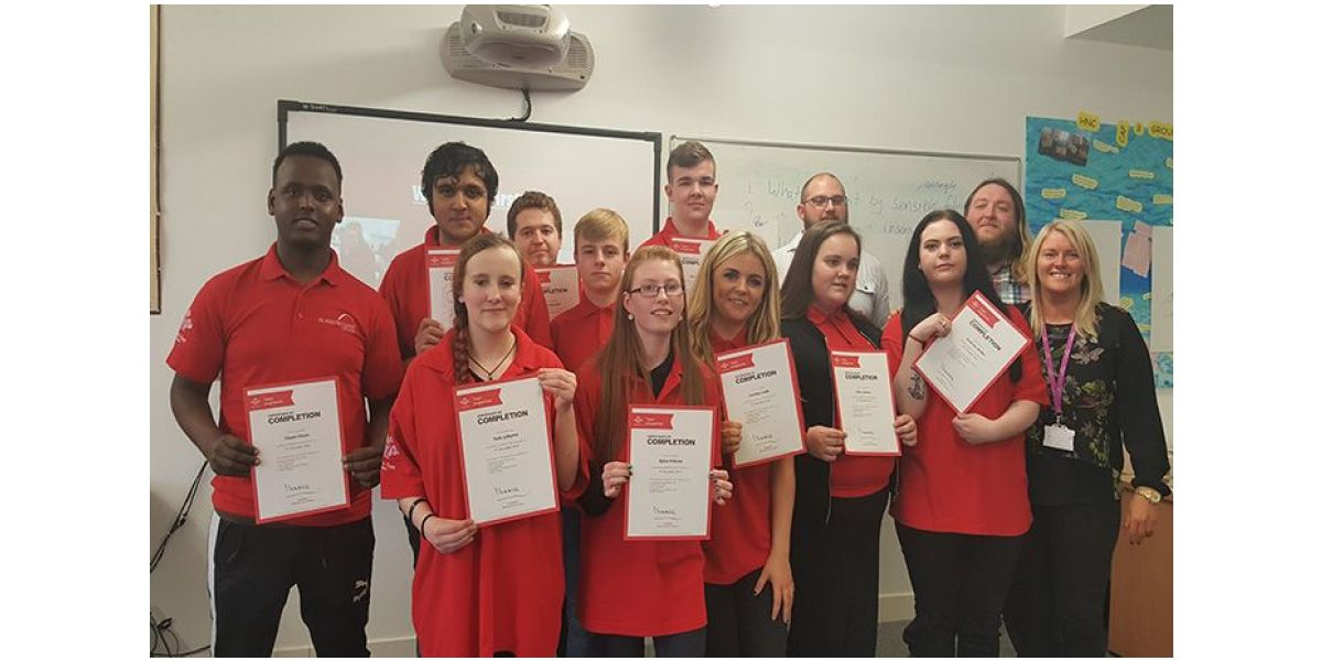 Princes Trust Team Celebrate Completion Of Programme