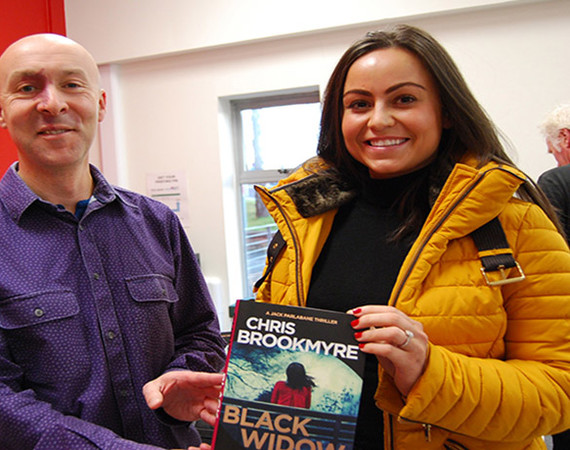 Christopher Brookmyre with Dawn Mooney