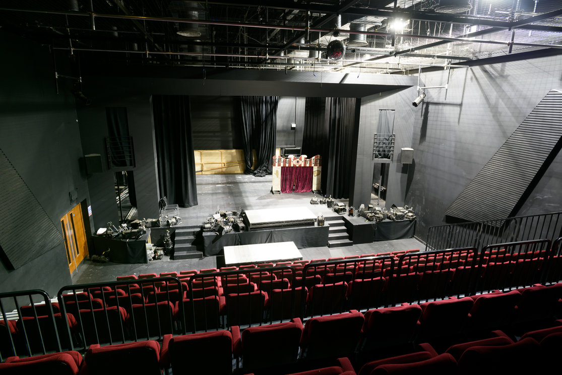 Langside theatre looking down on stage gallery