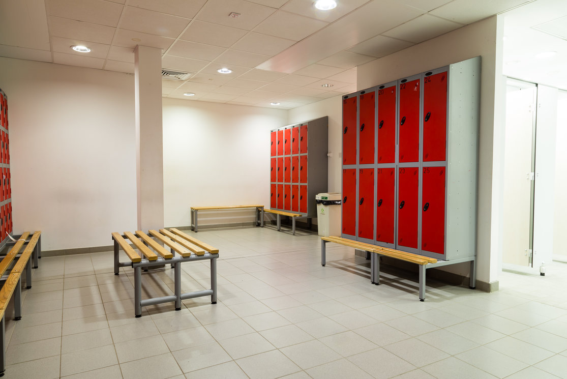 Anniesland changing room lockers and bench gallery