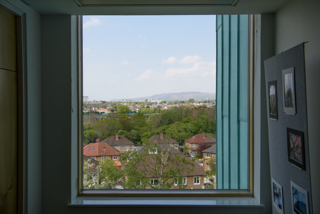 Anniesland view over houses and hills gallery