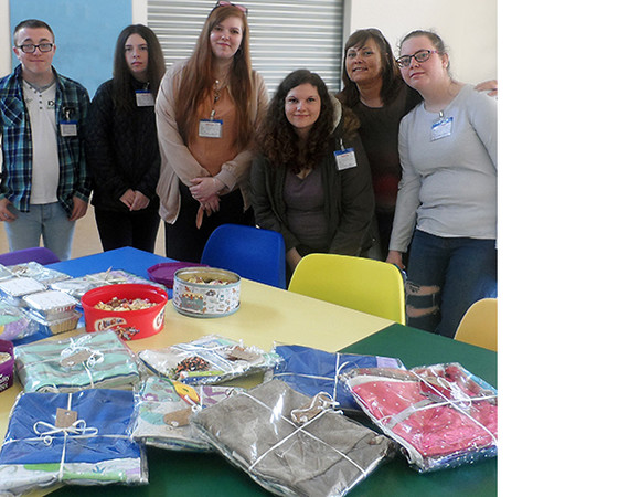 Employability students with fidget blankets
