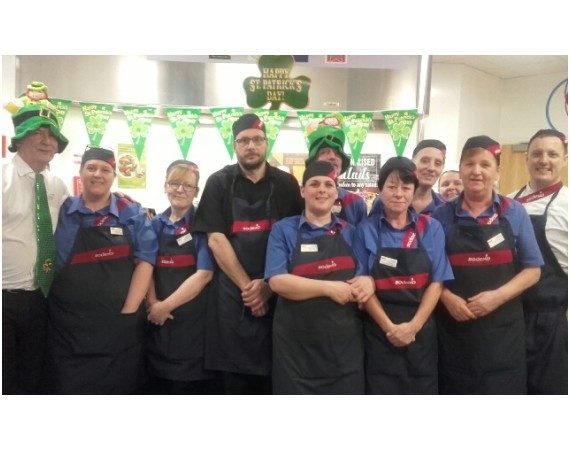 Catering team on St Patricks Day