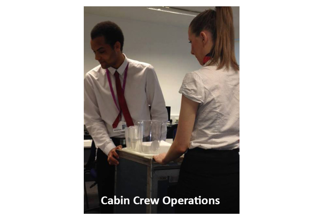 Cabin crew with text gallery