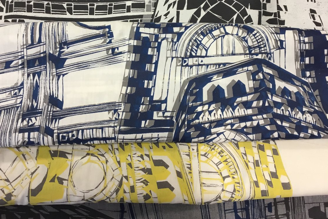 Hndba textiles specialising in weave and print sample 7 gallery
