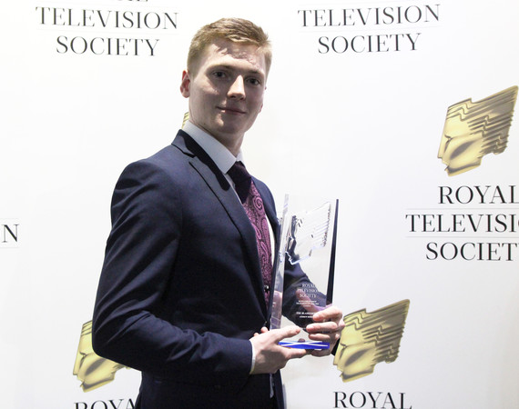 Andrew Berry wins at the RTS Scotland Student Television Awards