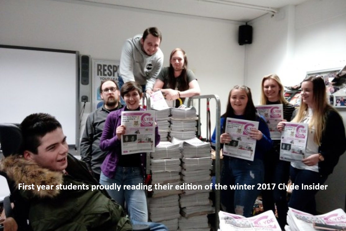 Proudly reading their edition of the winter 2017 clyde insider gallery