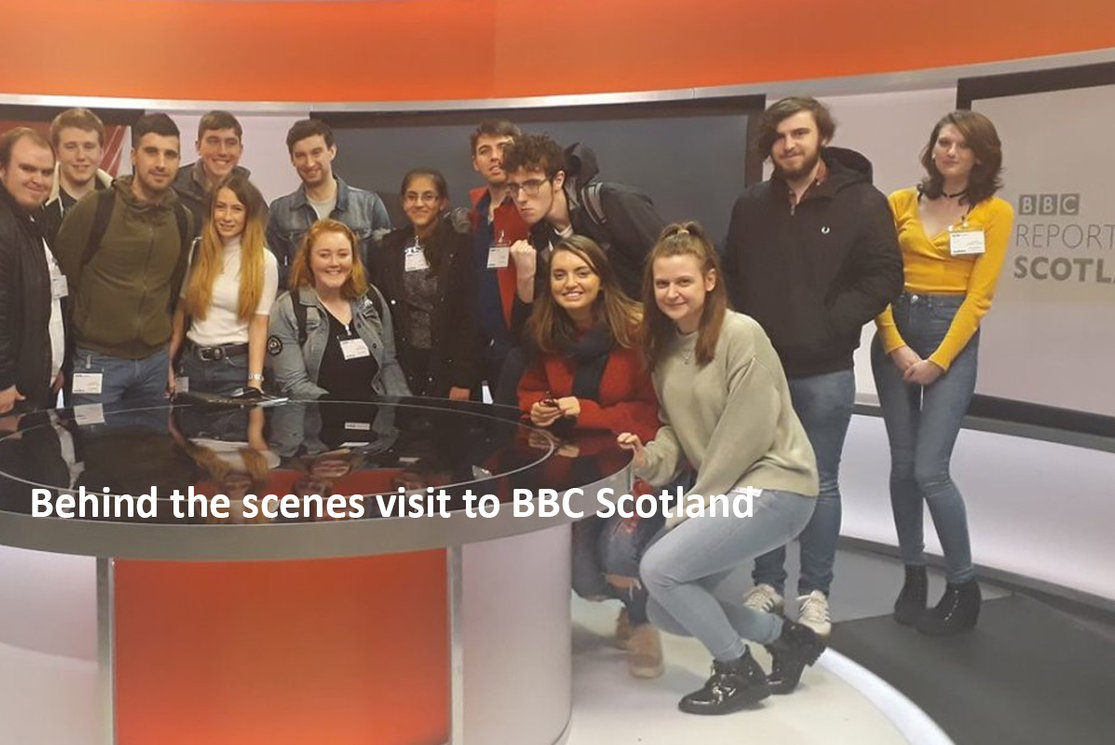 Behind the scenes visit to bbc scotland gallery