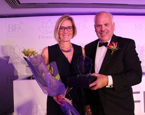 Jayne Buet Floristry Tutor of the Year winner