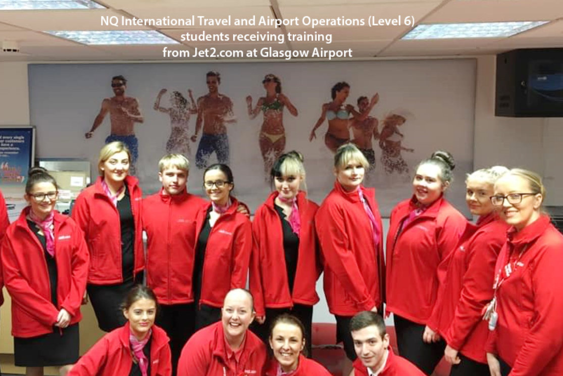Travel and tourism students at glasgow airport 9 gallery