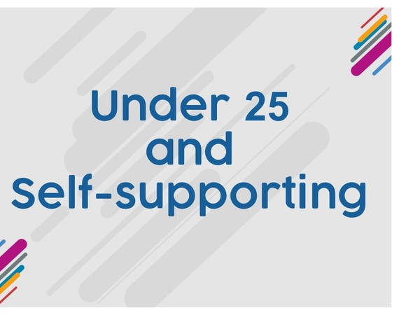 Under 25s and self-supporting
