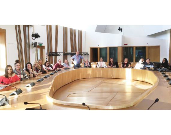 HNC Social Services at the Scottish Parliament