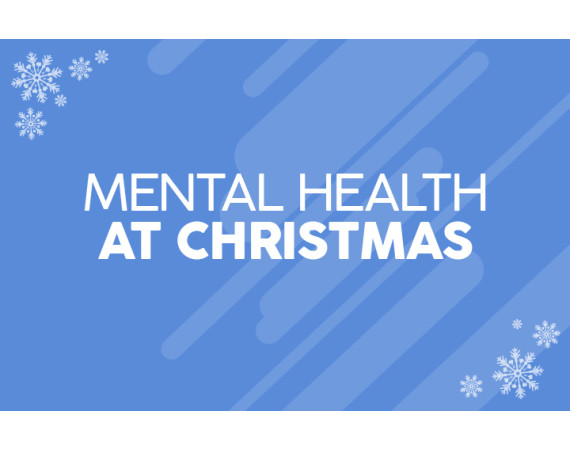 Mental health at christmas image with snowflakes